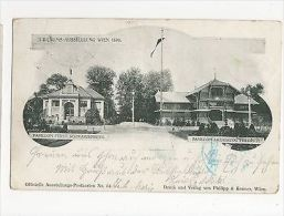 Austria Exhibition Wien 1898, Pavilions Postcard, A543 - Ohne Zuordnung