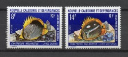 NOUVELLE CALEDONIE  N° 387+388  NEUF SANS CHARNIERE COTE 9.60€    POISSON - Neufs