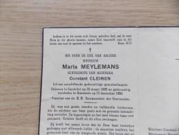 Doodsprentje Maria Meylemans Zandvliet 23/3/1885 Hoevenen 15/12/1960 ( Constan Cleiren ) - Religion & Esotericism