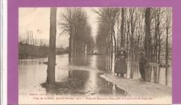 78  CRUE DE LA SEINE 1910 ROUTE DES QUARANTES SOUS PRES LA CIMENTERIE DE GUERVILLE  BON ETAT 2 SCANS - Sin Clasificación