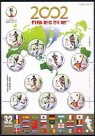South Korea 2002. 2244-2248 The World Championship On Football «FIFA World Cup Korea-Japan» (small Sheet) - Korea, South
