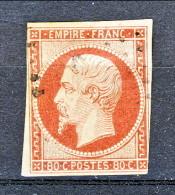 Francia 1854 Y&T N. 17A Napoleone III C. 80 Carminio  Usato - 1853-1860 Napoléon III.