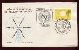 BRASILIA,  BRASIL,  SPACE,  FDC , 1965 - South America