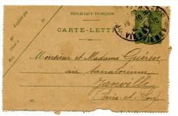 Entier Postal - Carte Lettre Yvert 130-CL1 - Date 924 - Semeuse Lignée 15c Vert - Cote 4 Euros - R 1736 - Kaartbrieven