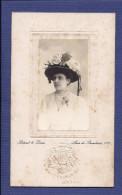 Fotografia Antiga SENHORA Com Chapeu Florido. PHOT.FRANÇAISE De Bitard & Lima / Lisboa Portugal - Old (before 1900)