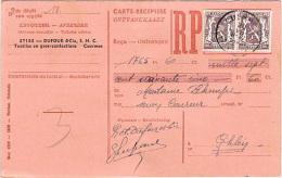 Cartes-récipissés (reçus) - Mons & Cuesmes Pour Paiement Textiles & Confections - 30/07/48 & 30/10/48 - België