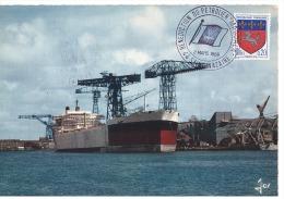 CPM - FRANCE - BATEAUX - PETROLIERS - Bénédiction Du Pétrolier MAGDALA - Le 2-3-1968 - Pétroliers