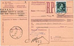 1956 - Cartes-récipissés (reçus) - Mons & Cuesmes Pour Paiement Textiles & Confections - 28/12 - 29/06 & 15/12 - 1950 - ...