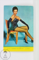 1967 Small/ Pocket Calendar - Cinema/ Actors Topic: Actress: Joan Collins In Sexy Stockings - Calendriers