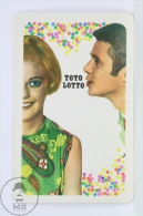 Vintage 1970 Small/ Pocket Calendar - Blonde Lady & Man - Hungarian Gaming - Toto Lotto - Tamaño Pequeño : 1961-70