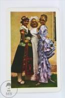 Vintage 1976 Small/ Pocket Calendar - Hungarian Lady Costumes - Hungary, Budapest Advertising - Calendarios
