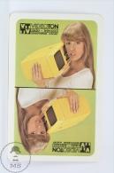 Vintage 1979 Small/ Pocket Calendar - Blonde Lady With Vido TV  - Hungary Videoton Radio Television Advertising - Tamaño Pequeño : 1971-80