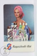 Vintage 1979 Small/ Pocket Calendar - Lady After Shower  - Czech Advertising - Calendarios