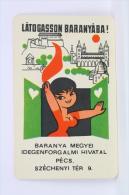 Vintage 1968 Small/ Pocket Calendar - Hungarian Advertising Calendar - Tamaño Pequeño : 1961-70