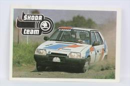 Vintage 1989 Small/ Pocket Calendar - Skoda Rally Team - Czech Advertising - Tamaño Pequeño : 1981-90