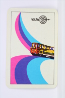 1974 Small/ Pocket Calendar - Tourism Bus/ Traveling - Volan Utazasi Iroda Hungary Advertising - Calendarios