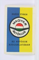 1971 Small/ Pocket Calendar - Hungary Auto/ Car Club - Hungarian Advertising - Tamaño Pequeño : 1961-70