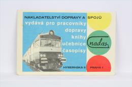1975 Small/ Pocket Calendar - Czech Train/ Railway Workers Transport - Prague/ Praha - Calendarios