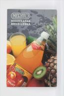1994 Small/ Pocket Calendar - Merito Fruit Juice - Hungary Advertising - Calendarios