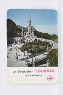 1961 Small/ Pocket Calendar - Les Sanctuares Lourdes - Les Pyrenees - Tamaño Pequeño : 1961-70