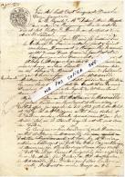 Acte De Vente Au Longprès De Krembourg Commune De LANDAUL - Notaire / Huissier Et 2 Témoins De La Commune De PLUVIGNER - Vieux Papiers