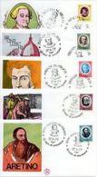 F.D.C. - BUSTE PRIMO GIORNO EMISSIONE - Artisti Italiani 1977 - 1946-.. République