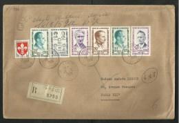 Série Des Héros De La Résistance N° 1198/02 / Lettre Recommandée 3ème échelon / PARIS 13.05.1959 - Postmark Collection (Covers)