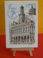 FDC- Carte Maxi, Floralies - 02 St Quentin- 22.9.1968 - 1er Jour, Coté .. € - Cartoline Maximum