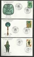 """N° 382/84 """" Musée De Nouméa """"  / Lot De 3 Enveloppes FDC - Premier Jour / NOUMEA 1972 - Covers & Documents"""