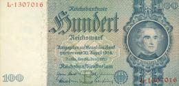 Deutschland, Germany - 100 Reichsmark, Ro. 176 A , ( Serie E/L ) UNC- ,1936 - 1948 ! - [ 4] 1933-1945: Derde Rijk