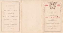 CARD MARTASSINA RICORRENZA DEI 25 ANNI DI CAPPELLANIA 1904-1929 VEDI 2 SCANNER  (TORINO) -2-0882-23267-268 - Unclassified