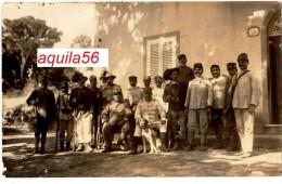 LIVORNO -- QUERCIANELLA -- FOTO CARTOLINA -- 1917 -- GRUPPO MILITARI IN DIVISA -- - War 1914-18