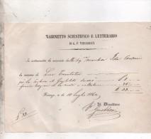 1860 GABINETTO SCIENTIFICO E LETTERARIO DI G.P. VIEUSSEUX - FIRENZE - Italie