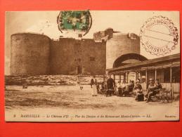 CPA Marseille (13) - Le Château D'If, Vue Du Donjon Et Restaurant Monte Cristo - Château D'If, Frioul, Islands...