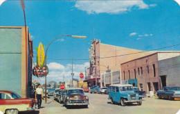 AGUA PRIETA, Sonora, Mexico, 1950-1960's; Vista Al Cine Alameda, Tortilleria, Coca-Cola Sign, Corona Sign, Classic Cars