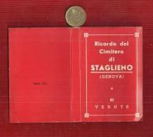 ITALY GENOVA RICORDO DEL CIMITERO DI STAGLIENO 20 VEDUTE   MINI BOOK--SOUVENIR - Fotografia