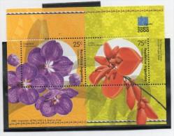 ARGENTINA 2000 BLOCK (Flowers, Orchids, Ceibo, Philatelic Exhibition, Bangkok 2000; Flores, Orquídeas, Filatelia) - Orchids