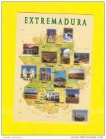 Postcard SPAIN EXTREMADURA MAPS MAP ESPAÑA ESPANA ESPAGNE ESPANHA - Sonstige