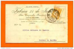 CARTE POSTALE PUBLICITE ADVERTISING POSTCARD PORTUGAL LISBOA  Stamp Ceres  Year 1920 - Variétés Et Curiosités