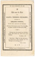 INGELMUNSTER , Doodsprentje Van Joanna Theresia DELBAERE + 1838 ! ! - Religion & Esotérisme