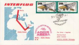 DDR 1978 - 2 Fach Frankierung Auf Schmuckbrief Interflug Berlin > Addis Abeba > Aden - [6] Democratic Republic
