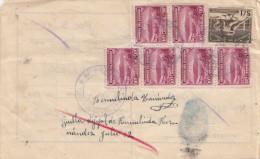 ECUADOR 1947 - 7 Fach Frankierung Auf Beleg - Ecuador