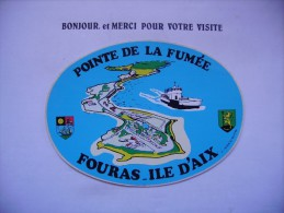 Autocollant  Pointe De La Fumée  Fouras Ile D'aix - Stickers