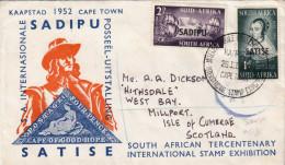 SUED AFRICA 1952 - Reco-Schmuckbrief 4 Fach Frankiert Gel.n. Scotland - Südafrika (...-1961)