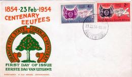 SOUTH AFRICA 1954 - First Day Cover 2 Fach Frankiert - Südafrika (...-1961)