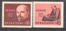 46-595 // BG -1960  90 BIRTHDAY Of   VLADIMIR I. LENIN   Mi 1160/61 ** - Nuevos