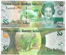 Cayman Islands 5 Dollars p-39 2010 UNC