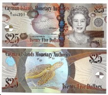 Cayman Islands 25 Dollars p-41 2010 UNC