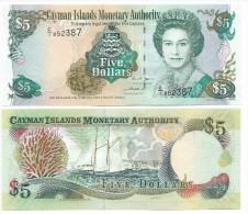 Cayman Islands5 Dollars p-34a 2005 UNC