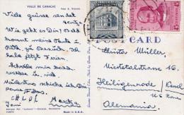 VENEZUELA 1954? - 2 Sondermarken Auf Ak VALLE DE CARACAS - Venezuela